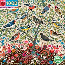 Árbol de Pájaros Cantores | Puzzle Eeboo 1000 Piezas
