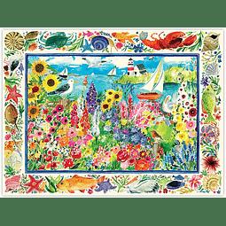 Jardín de Gaviotas | Puzzle Eeboo 1000 Piezas