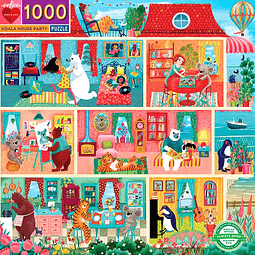 Fiesta en casa Koala   Puzzle Eeboo 1000 Piezas