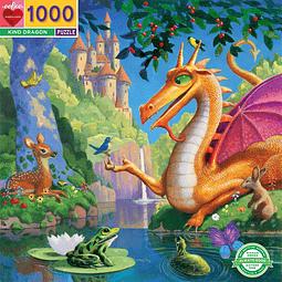 Dragon amable | Puzzle Eeboo 1000 Piezas