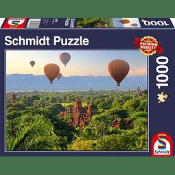 Globos en Mandalay | Puzzle Schmidt 1000 Piezas