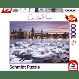 Cisnes en Praga | Puzzle Schmidt 1000 Piezas