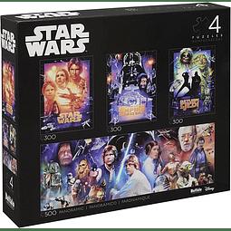 Star Wars Edición Coleccionista 4 en 1 | Puzzle Buffalo 300 y 500 Piezas