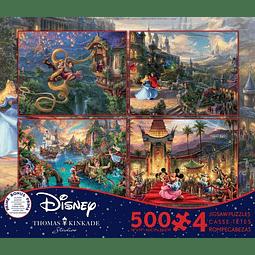 Disney Multipack (A) 4 en 1 | Puzzle Ceaco 4 x 500 Piezas