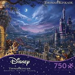 Disney La Bella y La Bestia Bailando a la Luz de la Luna | Puzzle Ceaco 750 Piezas