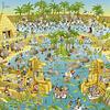 FUNKY ZOO Nile habitat | Puzzle Heye 1000 Piezas