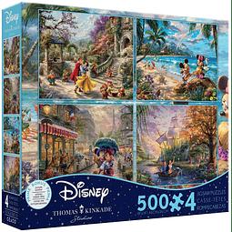 Disney Multipack (C) 4 en 1 | Puzzle Ceaco 4 x 500 Piezas
