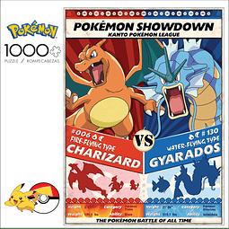 Pokémon Showdown: Charizard vs Gyarados   Puzzle Buffalo 1000 Piezas