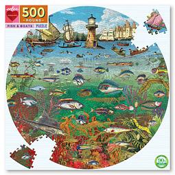Peces y Barcos | Puzzle Eeboo 500 Piezas