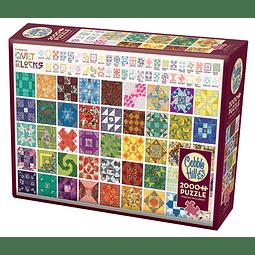Quilt Blocks | Puzzle Cobble Hill 2000 Piezas