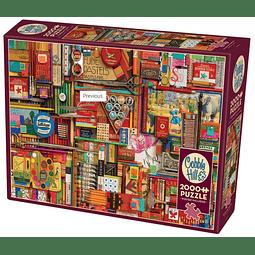 Vintage Art Supplies | Puzzle Cobble Hill 2000 Piezas