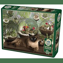 Terrarium Cat | Puzzle Cobble Hill 1000 Piezas