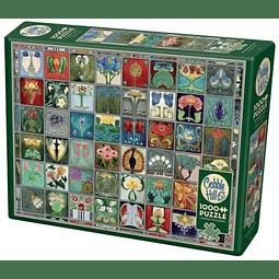 Art Nouveau Tiles | Puzzle Cobble Hill 1000 Piezas