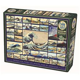 Thirty-Six Views Of Mount Fuji By Hokusai | Puzzle Cobble Hill 1000 Piezas
