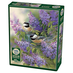 Chickadees And Lilacs | Puzzle Cobble Hill 1000 Piezas