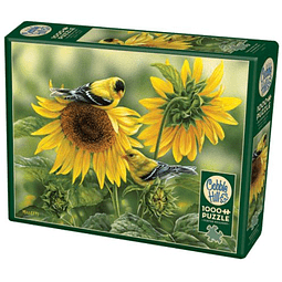 Sunflowers And Goldfinches | Puzzle Cobble Hill 1000 Piezas