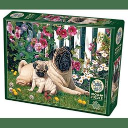 Pug Family | Puzzle Cobble Hill 1000 Piezas