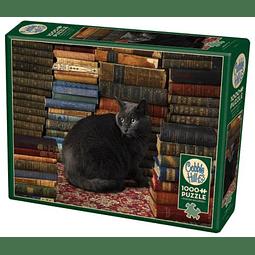 Library Cat | Puzzle Cobble Hill 1000 Piezas