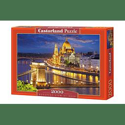 Vista de Budapest al anochecer | Puzzle Castorland 2000 Piezas