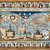 Mapa del mundo, 1639 | Puzzle Castorland 2000 Piezas