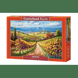 Colina de Viñedo | Puzzle Castorland 3000 Piezas
