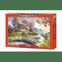 Cabaña con arboles | Puzzle Castorland 1500 Piezas