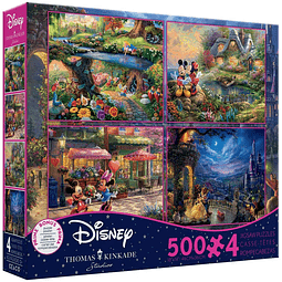 Disney Multipack (D) 4 en 1   Puzzle Ceaco 4 x 500 Piezas