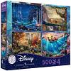 Disney Multipack (E) 4 en 1   Puzzle Ceaco 4 x 500 Piezas