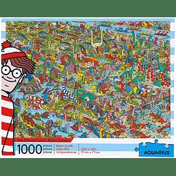 Donde esta Wally Jurassic   Puzzle Aquarius 1000 Piezas