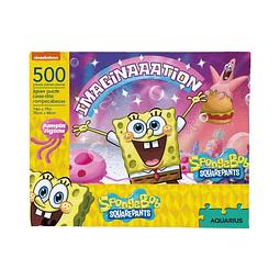 Bob esponja Imaginación | Puzzle Aquarius 500 Piezas
