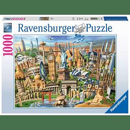 Hitos del Mundo | Puzzle Ravensburger 1000 Piezas