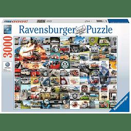 Momentos Volkswagen Van Bulli | Puzzle Ravensburger 3000 Piezas