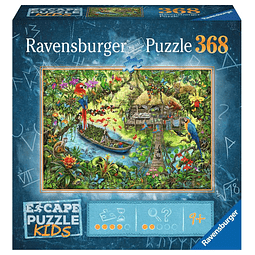 La expedición a la jungla | Escape Puzzle Kids Ravensburger 368 Piezas
