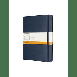Cuaderno Clasico / Xl / Azul Zafiro / De Rayas / Tapa Dura