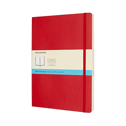 Cuaderno Clasico / Grande / Rojo Escarlata / Punteada