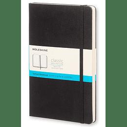 Cuaderno Clasico / Grande / Negro / Punteada