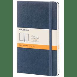 Cuaderno Clasico / Grande / Azul Zafiro / De Rayas / Tapa Dura