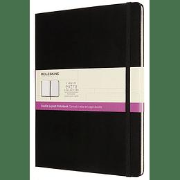 Cuaderno Doble Diseño / Xl / Negro / Tapa Dura