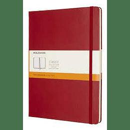 Cuaderno Clasico / Xl / Rojo / De Rayas / Tapa Dura