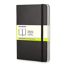Cuaderno  Clasico Negro Liso