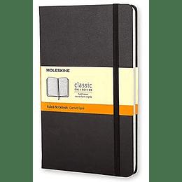 Cuaderno Clasico Grande Negro De Rayas