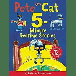 Pete The Cat: 5 Minute Bedtime Stories: Includes 12 Cozy Stories!