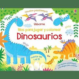 Dinosaurios Bloc Para Jugar Y Colorear