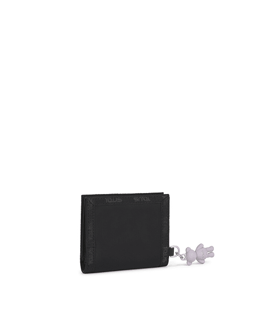 Billetera Tous Ina negro y gris