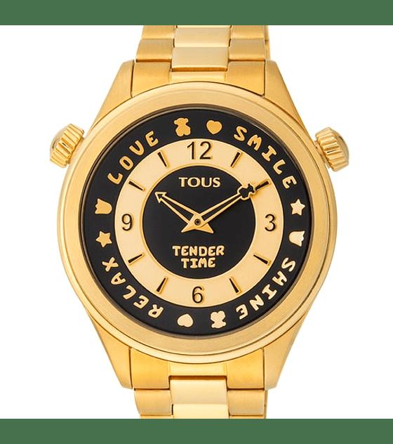 Reloj Tous Tender Time  bisel giratorio dorado