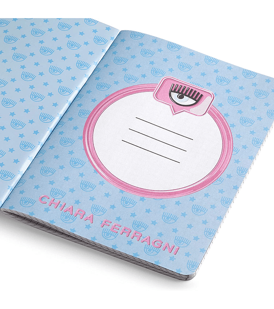 Chiara Ferragni Ed. Limitada Back to School cuaderno A4 celeste