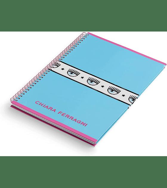 Chiara Ferragni Ed. Limitada Back to School Cuaderno espiral  Celeste