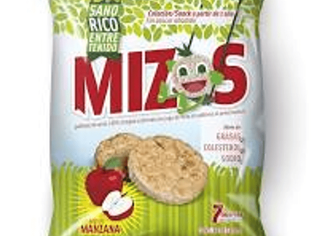 Galletas de arroz manzana 16g