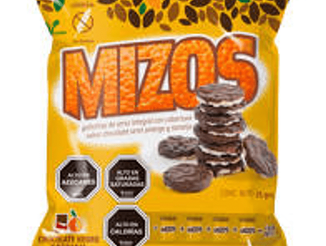 Galletas de arroz chocolate naranja 25g