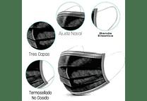 Caja con 50pz Mascarilla desechable 3 capas COLORES
